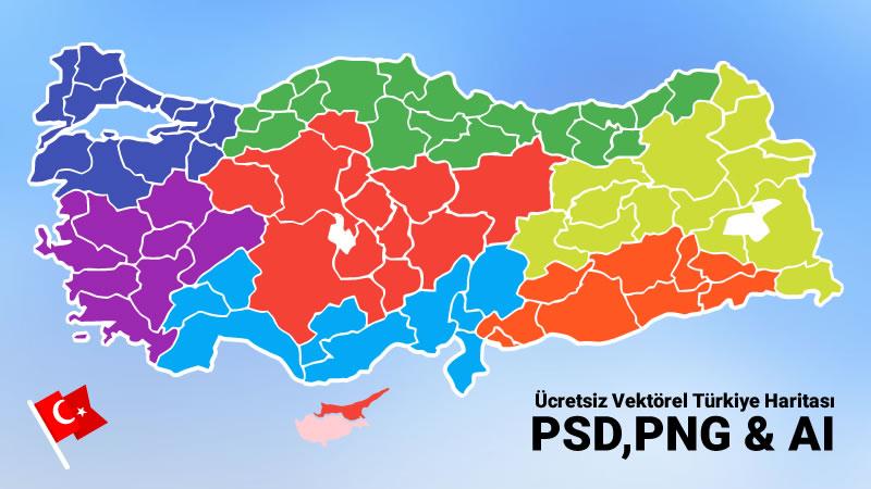Ucretsiz Il Katmanli Vektorel Turkiye Haritasi Psd Png Ai