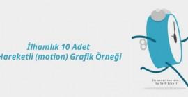 İlhamlık 10 Adet Hareketli (motion) Grafik Örneği