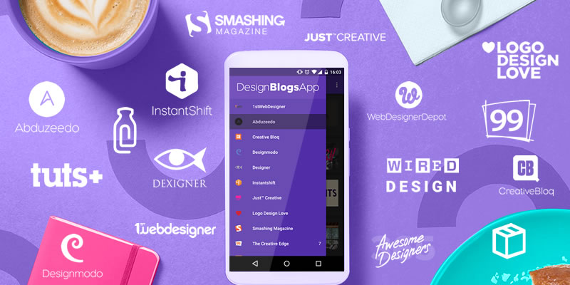Follow more Design Blogs in one android App for Free